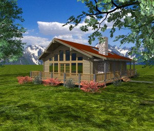 The Retreat Model Log Home