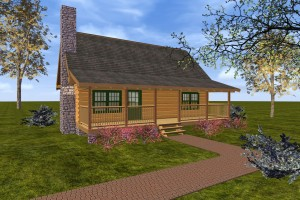Small log home model