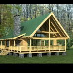 Timberview Log Home Perspective