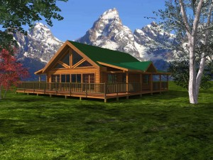 walland pass log cabin model